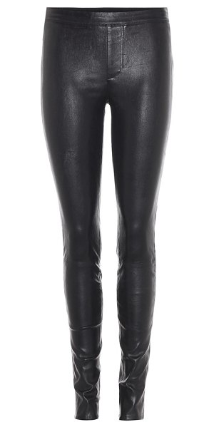 HELMUT LANG Leather trousers in black - Helmut Lang lives up to its reputation for creating...