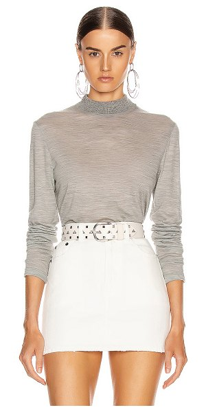 Helmut Lang mockneck sweater in heather grey