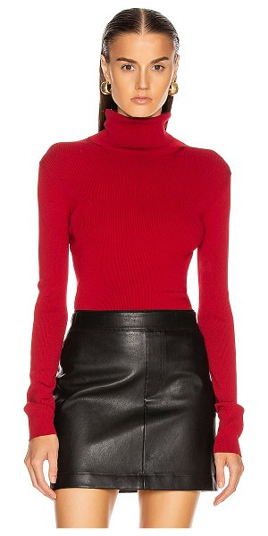 Helmut Lang stretch turtleneck top in lava