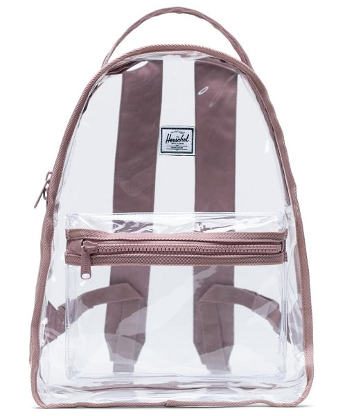 Herschel Supply Co. nova clear mid volume backpack in ash rose/ clear