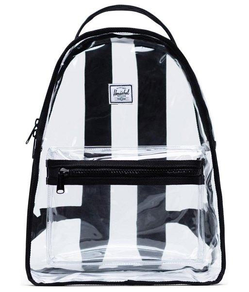 Herschel Supply Co. nova clear mid volume backpack in black/ clear