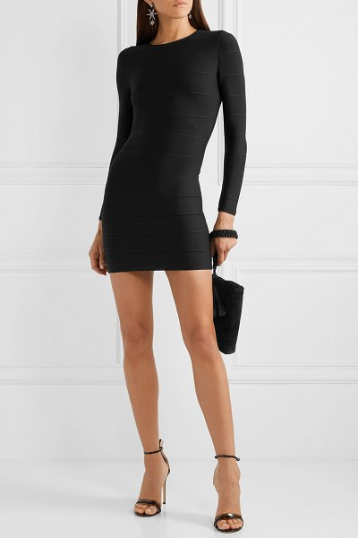 Herve Leger bandage mini dress in black