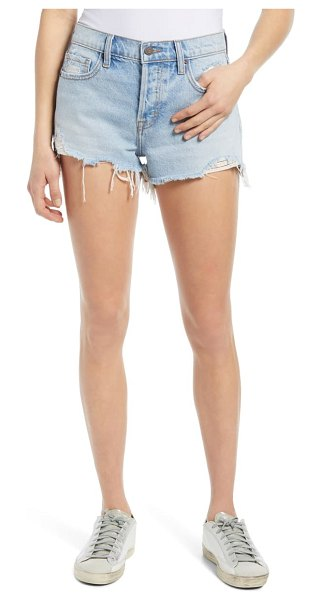 Hidden Jeans nonstretch ripped cutoff denim shorts in light wash