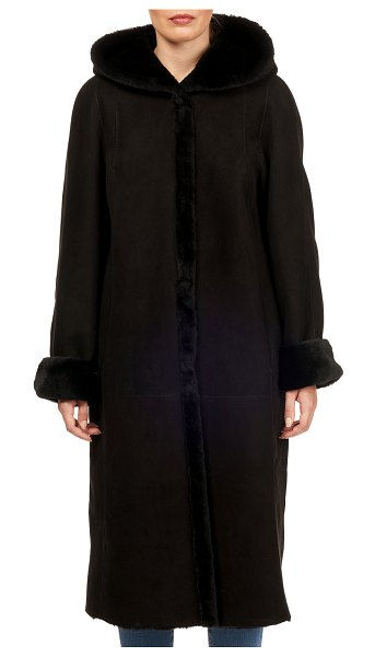 HiSO Reversible Lamb Shearling Short Coat in black