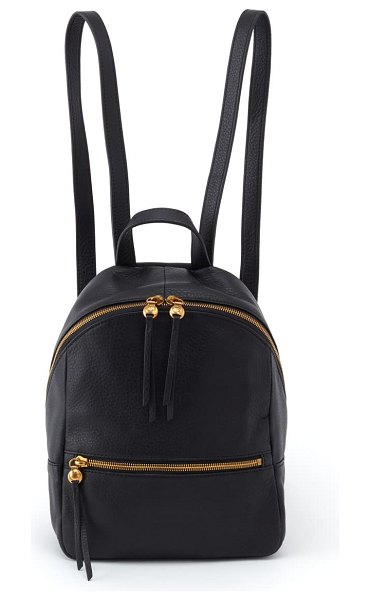 Hobo cliff leather backpack in black