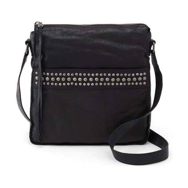 Hobo mystic studded leather crossbody bag in black