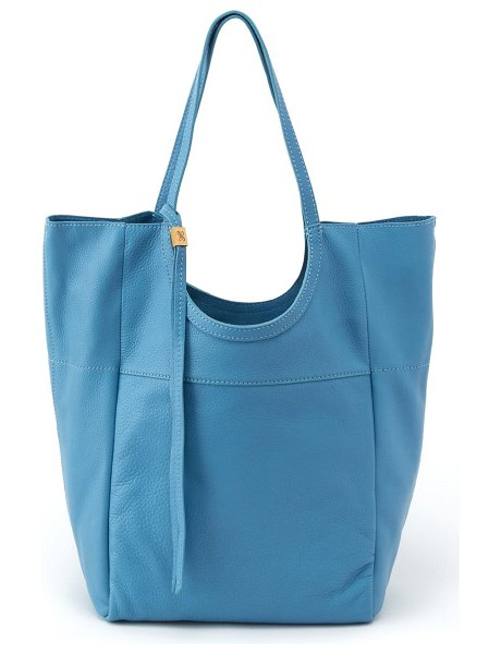 Hobo native leather tote in dusty blue
