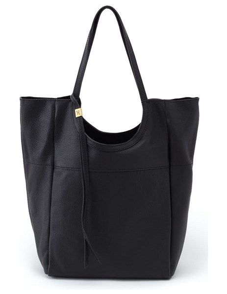 Hobo native leather tote in black