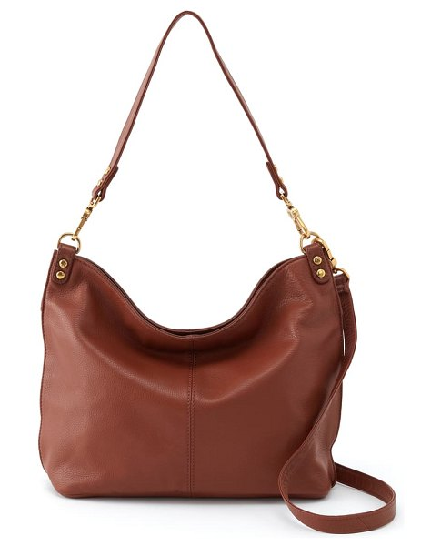 Hobo pier leather tote in toffee
