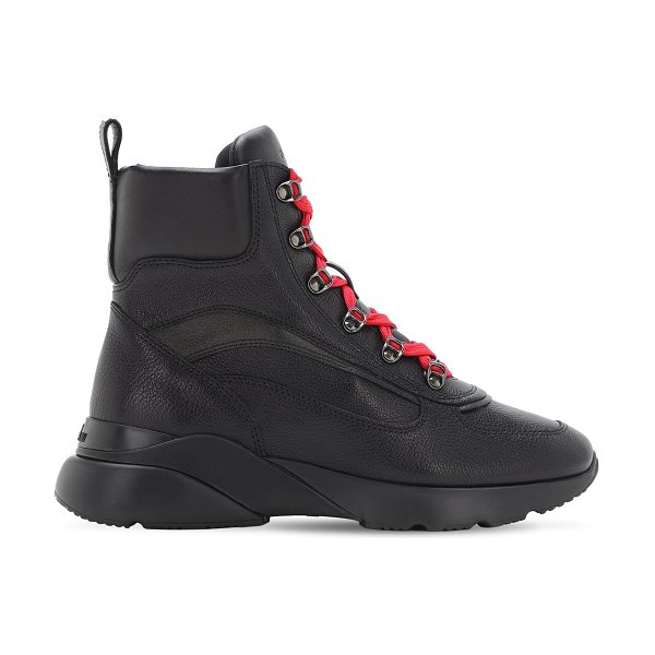 hogan Active one leather boots in black