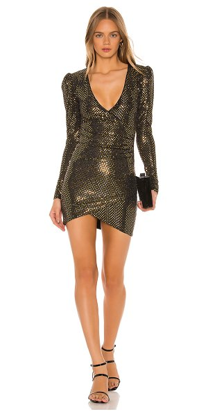 h:ours vice dress in black & gold