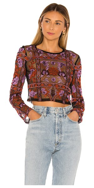House of Harlow 1960 x revolve denise top in noir multi