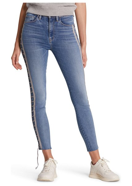 Hudson barbara high waist crop skinny jeans in dazzle