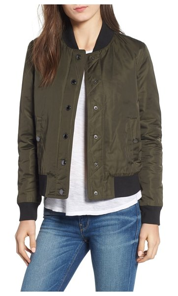 Hudson bomber jacket in green army
