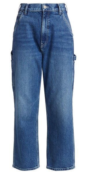 Hudson carpenter high-rise loose straight jeans in imagination