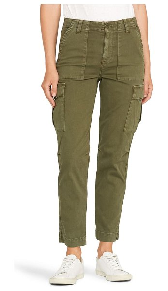 Hudson classic high waist cargo pants in washed troop