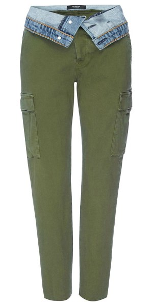 Hudson foldover cargo pants in isolated troop