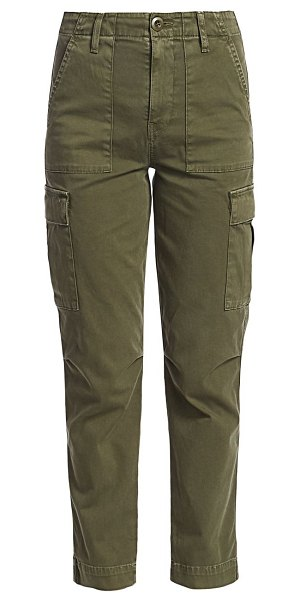 Hudson high-rise classic cargo pants in washed troop