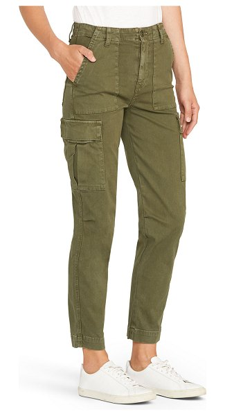 Hudson High-Rise Straight-Leg Cargo Pants in washed troop