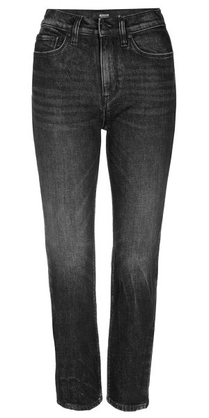 Hudson holly high-rise crop slit flare jeans in isolated