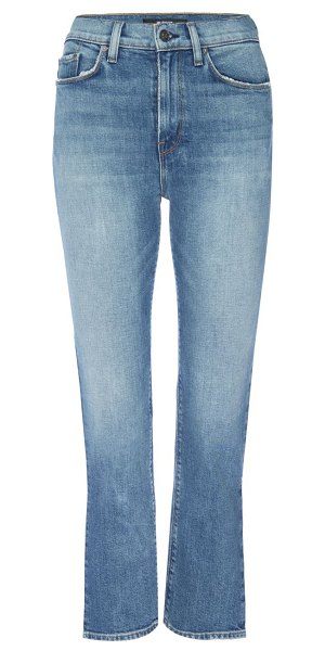 Hudson holly high-rise crop slit flare jeans in lonesome