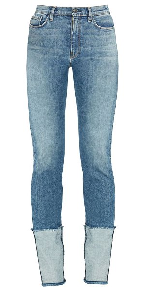 Hudson holly high-rise straight high-cuff jeans in mimic