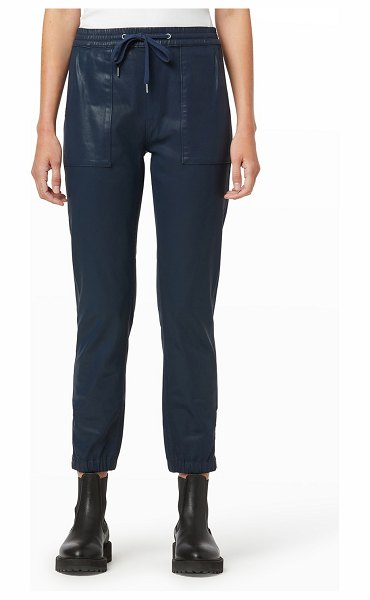 Hudson Utility Joggers with Zipper Hem in pageant blue coat