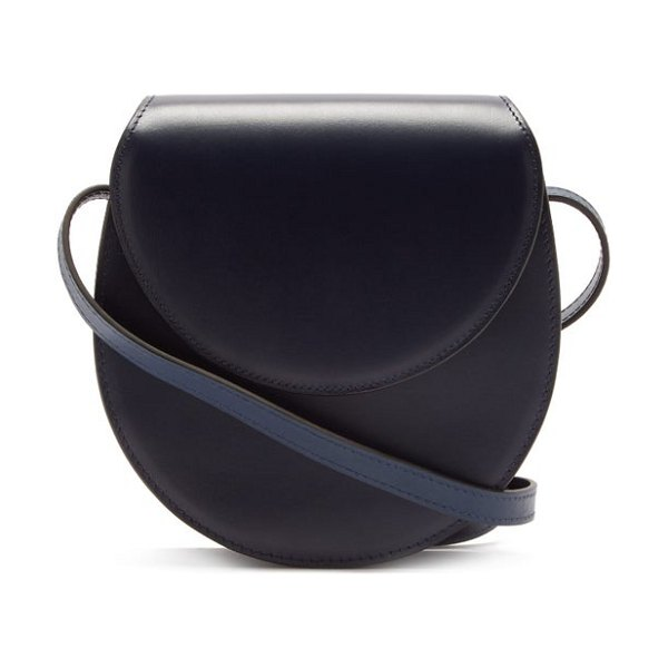 Hunting Season the saddle leather cross-body bag in navy