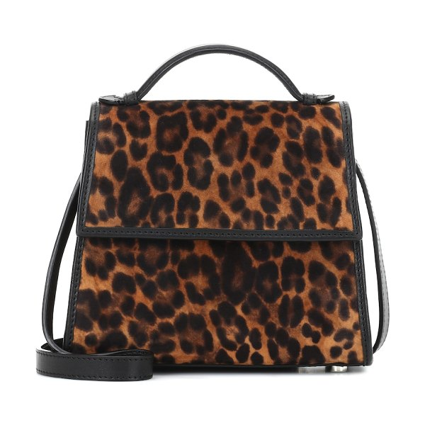 Hunting Season the top handle small calf hair tote in multicoloured