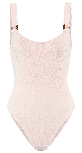 Hunza G domino swimsuit in beige