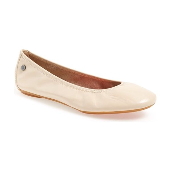 Hush Puppies 'chaste' ballet flat in nude leather