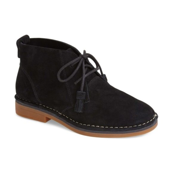 Hush Puppies cyra catelyn chukka boot in black suede