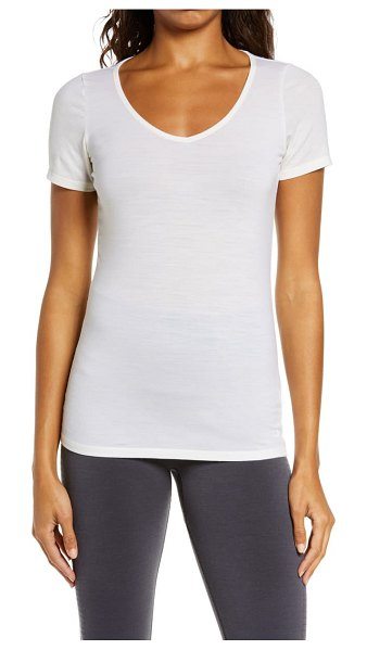 ICEBREAKER siren sweetheart merino wool blend t-shirt in snow