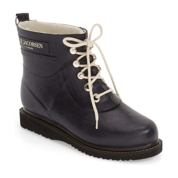 Ilse Jacobsen 'rub' boot in dark indigo