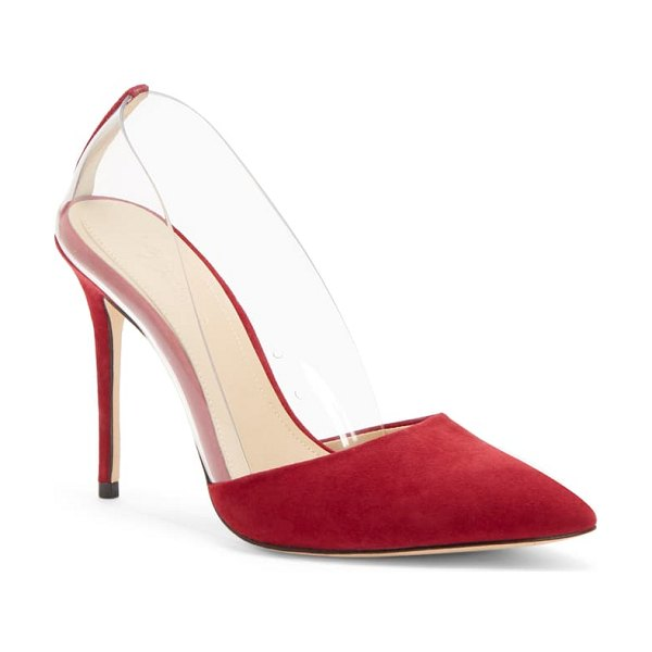 Imagine by Vince Camuto ossie clear pump in bordeaux suede
