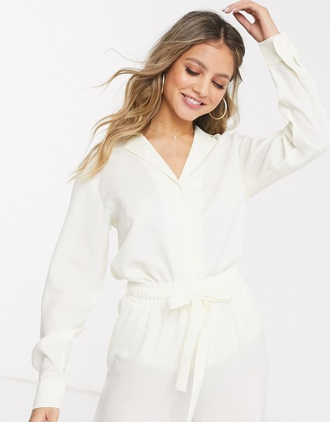 In The Style exclusive relaxed shirt in cream in cream