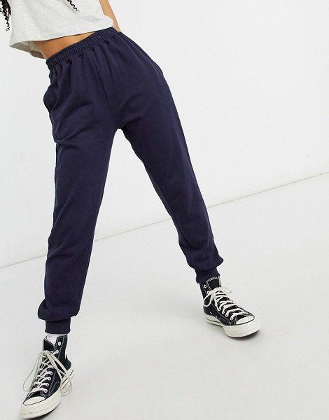 In The Style x siannise fudge sweatpants in navy in navy
