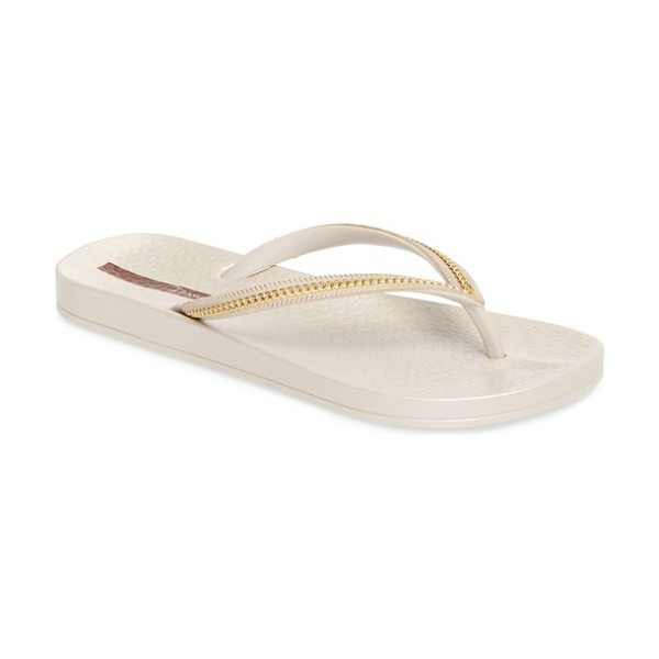 Ipanema ana flip flop in beige/ beige - A soft and flexible flip-flop serves as a versatile...