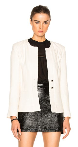 IRO Vincey Jacket in white - Self: 56% cotton 22% virgin wool 22% acrylic - Lining:...