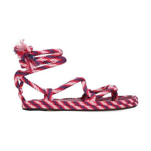 Isabel Marant 20mm erol cotton rope sandals in pink,purple