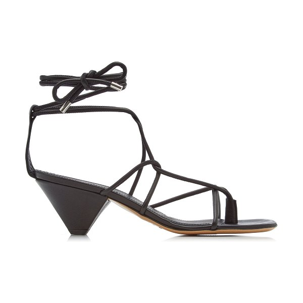 Isabel Marant allua lace-up leather sandals in black