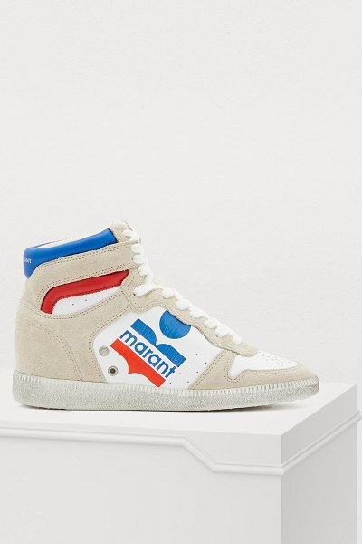 Isabel Marant Bayten sneakers in white - Isabel Marant offers these relaxed Bayten sneakers with...