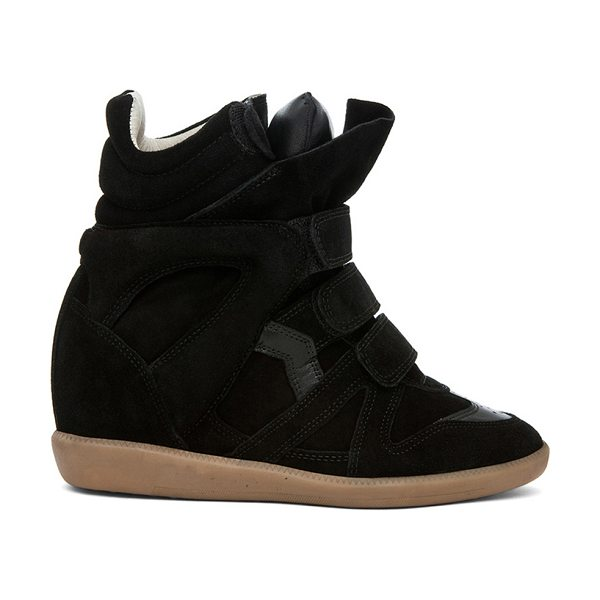 "ISABEL MARANT Bekett Calfskin Suede Sneakers - ""Calfskin suede leather upper with rubber sole.  Made in..."