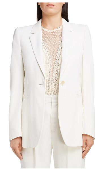 Isabel Marant blazer in white - Strong shoulders add a sense of Parisian power to this...