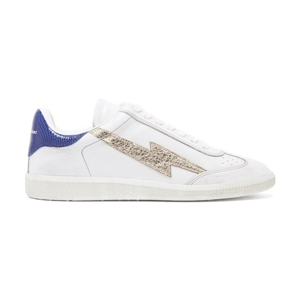 Isabel Marant bryce lightening-appliqué leather trainers in blue white