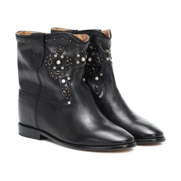 Isabel Marant cluster leather ankle boots in black