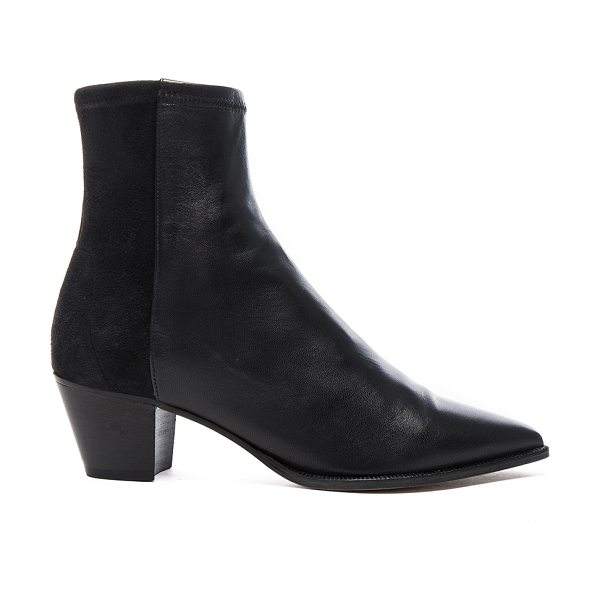Isabel Marant Dabbs Velvet & Leather Boots in black - Genuine leather and suede upper with leather sole.  Made...