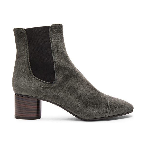 ISABEL MARANT Danae Velvet Booties - Calfskin velvet leather upper with leather sole.  Made...