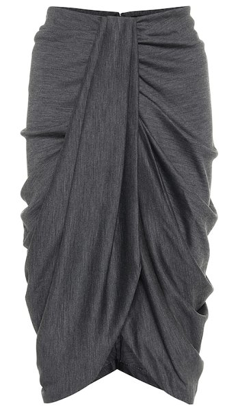Isabel Marant datisca wool and cotton midi skirt in grey