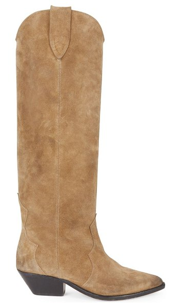 Isabel Marant denvee suede tall boots in taupe